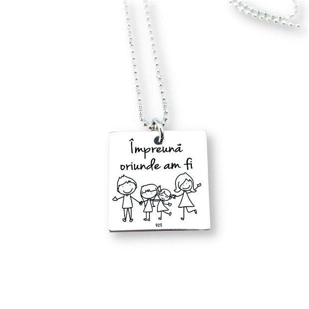 Family- pandantiv argint barbati - panadantiv personalizat argint pentru el