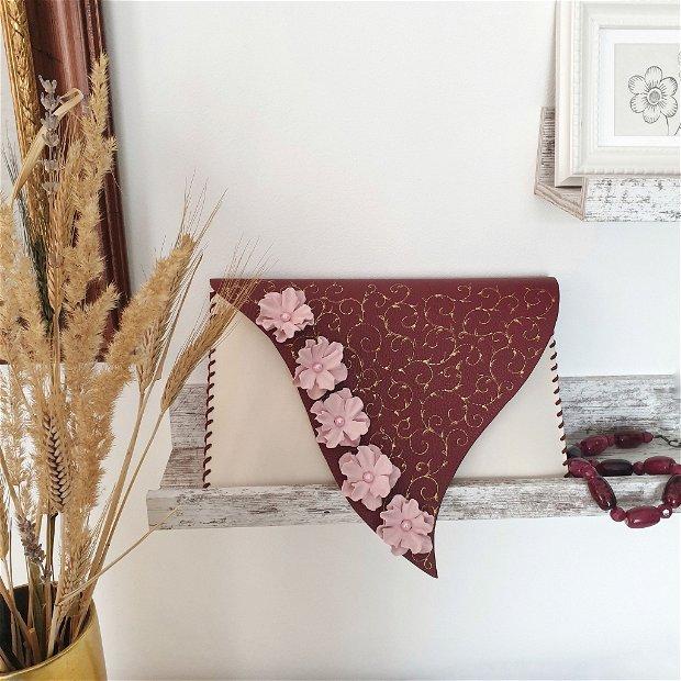 plic handmade unicat-Pinky little flowers