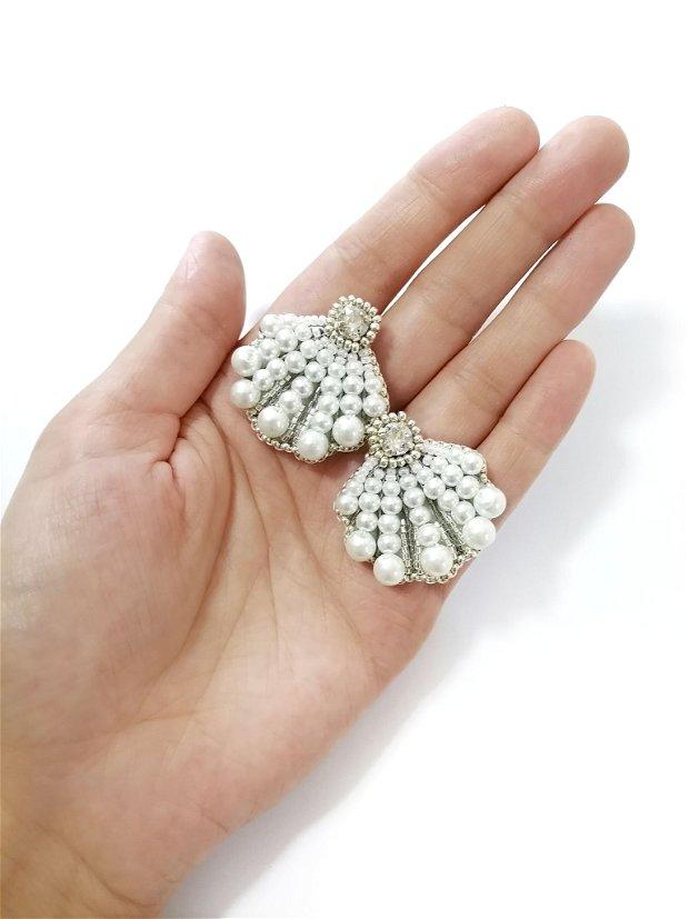 Cercei scoica si perle