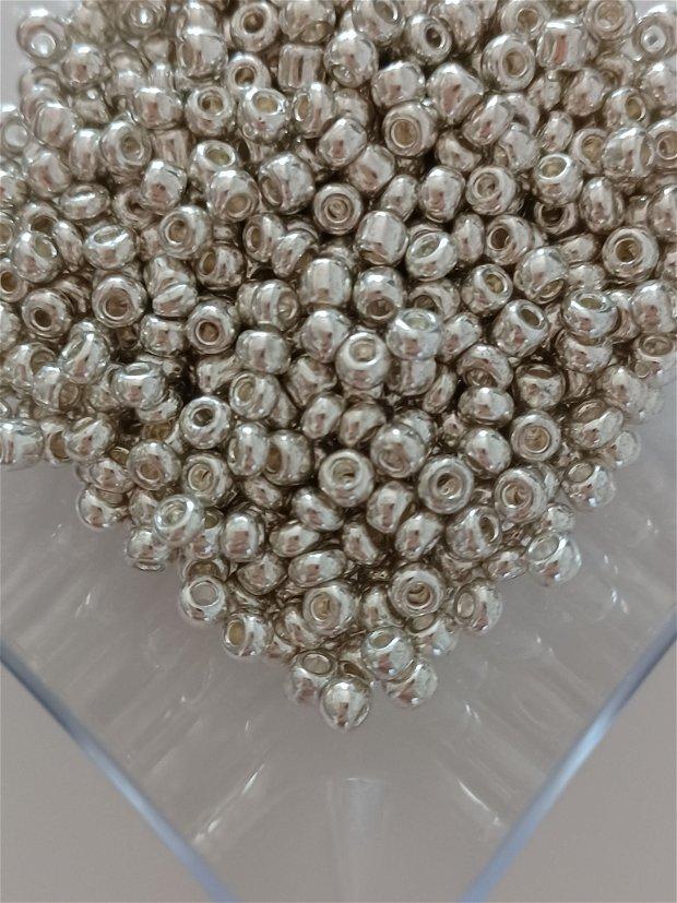 Margele de nisip, 4mm, Rodiate