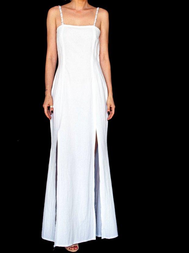 Rochie alba lunga