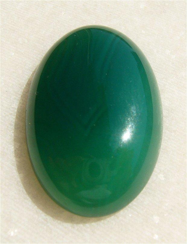 Cabochon 1 agata verde aprox 30.3x20x7 mm