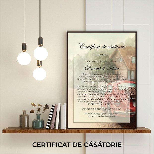 Certificat de căsătorie - MAȘINĂ