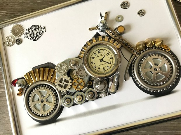 Motocicleta Harley Davidson Cod M 538, Cadouri masini, Tablouri masini si motociclete, Decoratiuni de lux