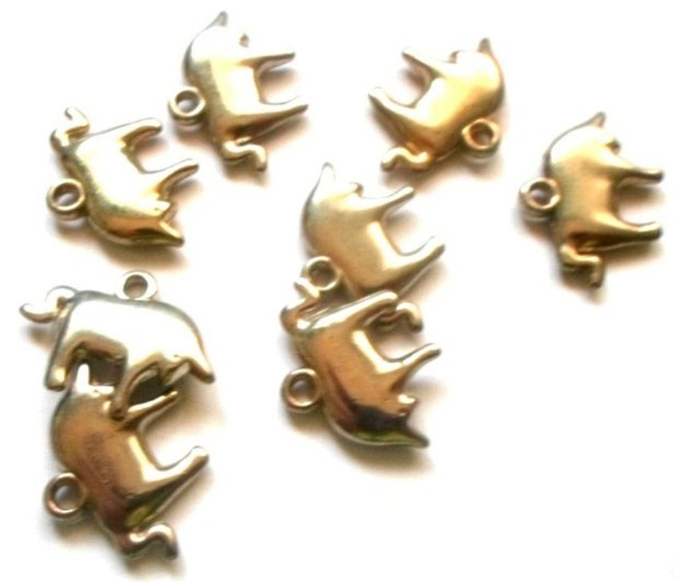 Charm figurina zodiac Taur argintiu