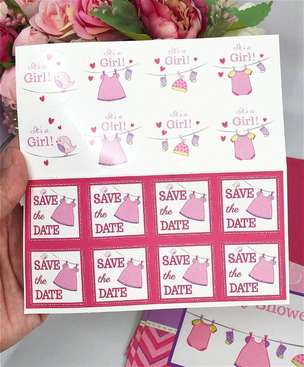 Invitație Baby Shower - Fetita