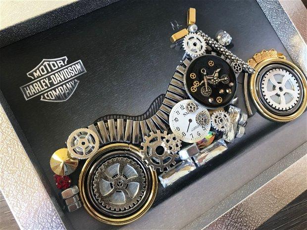 Motocicleta model Harley Davidson Cod M 540, Cadouri originale pentru barbati, Cadouri zile de nastere, Decoratiuni casa