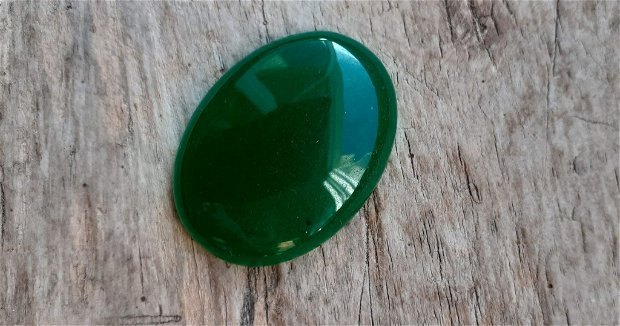 Cabochon jad verde, 40x30 mm