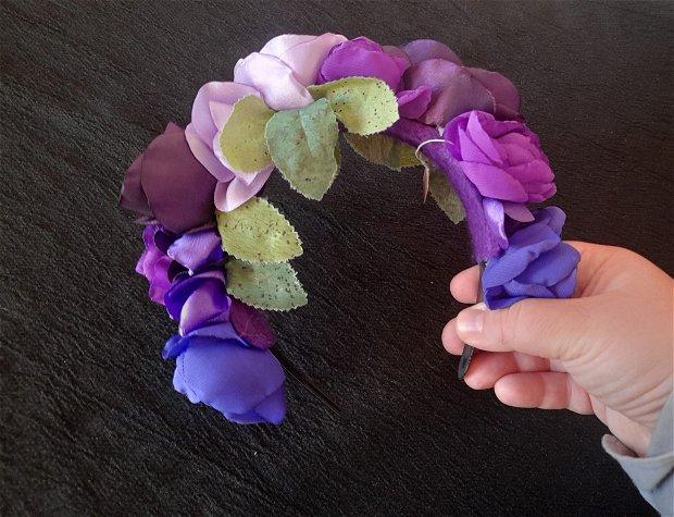 Coronita flori violet 2
