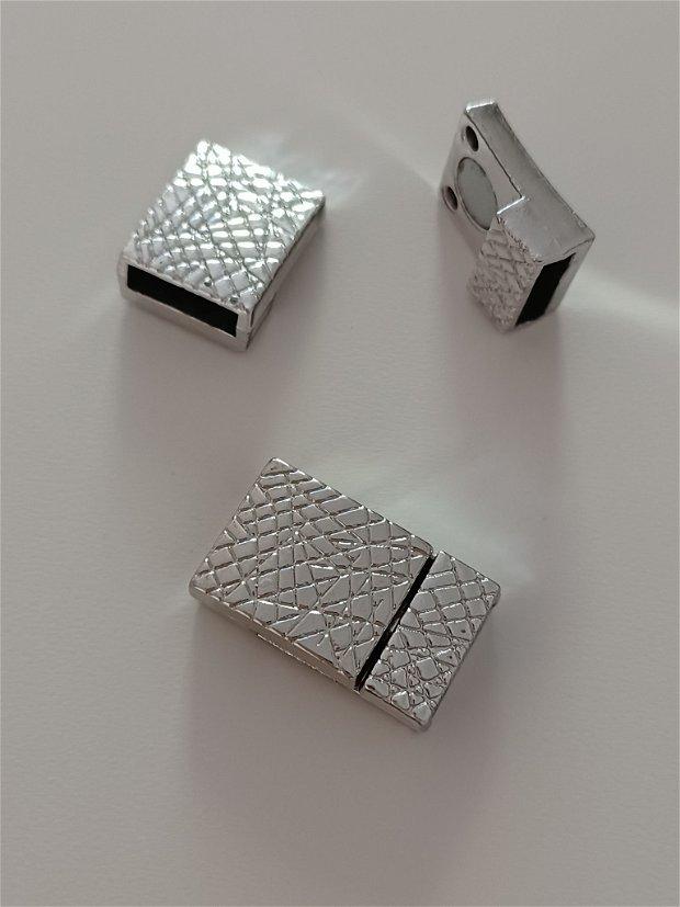 Inchizatoare magnet, bratara textil, auriu, 28x15mm - 1 buc
