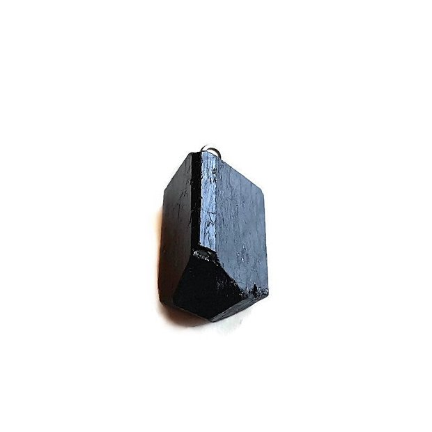 Pandantiv turmalina neagra bruta 24x16mm