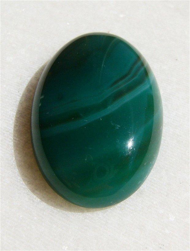 Cabochon 3 agata verde aprox 30.4x20x7.4 mm
