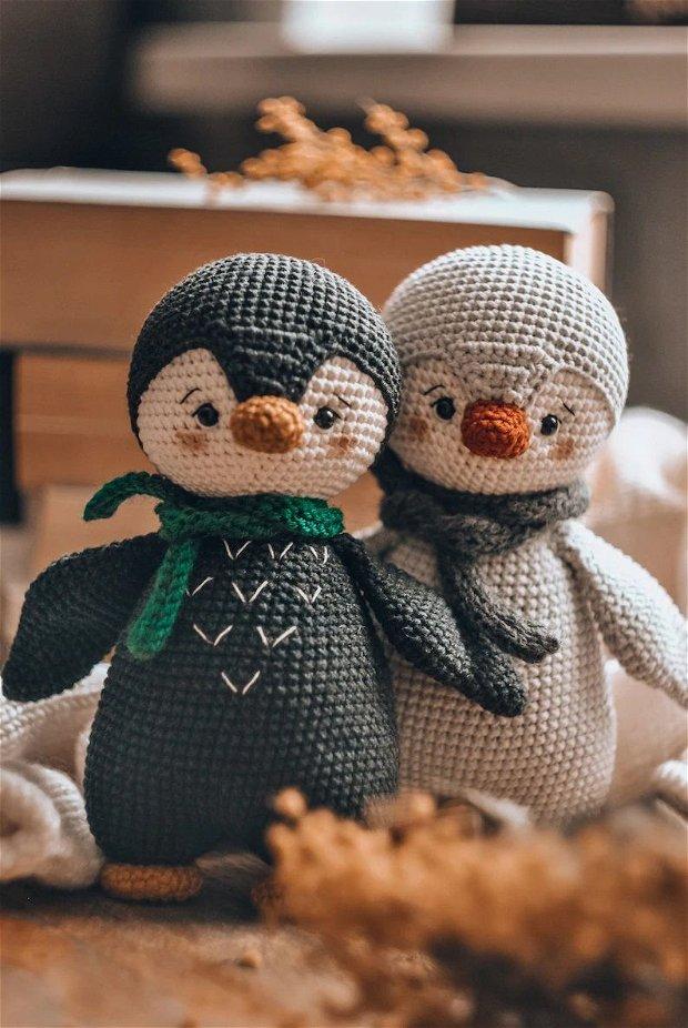 Jucarie crosetata pinguin