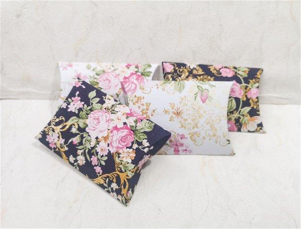 Set 10 cutiute pillow cu flori