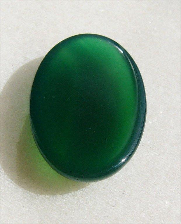 Cabochon 4 agata verde inchis aprox 30x19.5x7mm