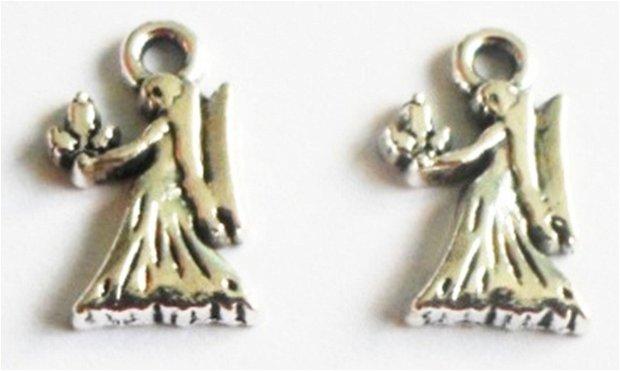 Charm figurina zodiac Fecioara mic argintiu
