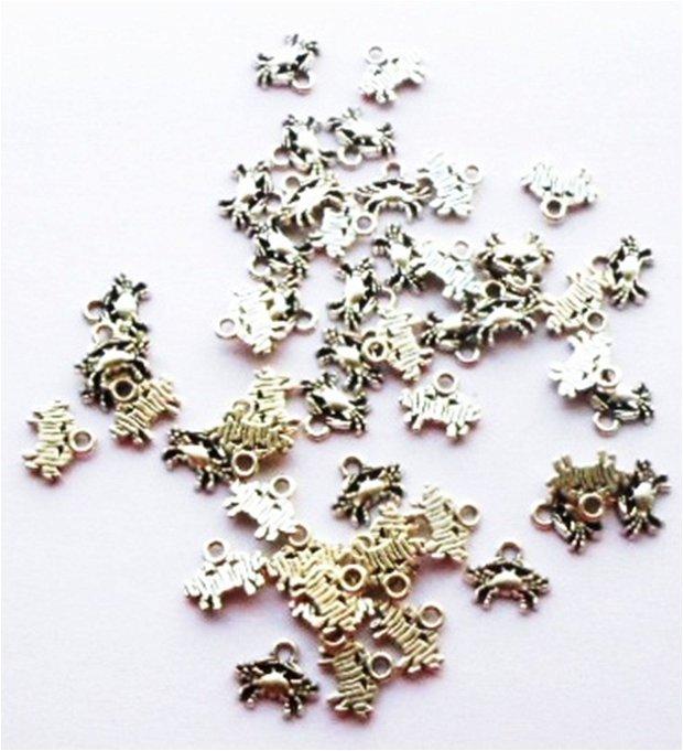 Charm figurina zodiac Rac mic argintiu