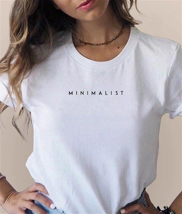 Tricou unisex brodat manual (minimalist)