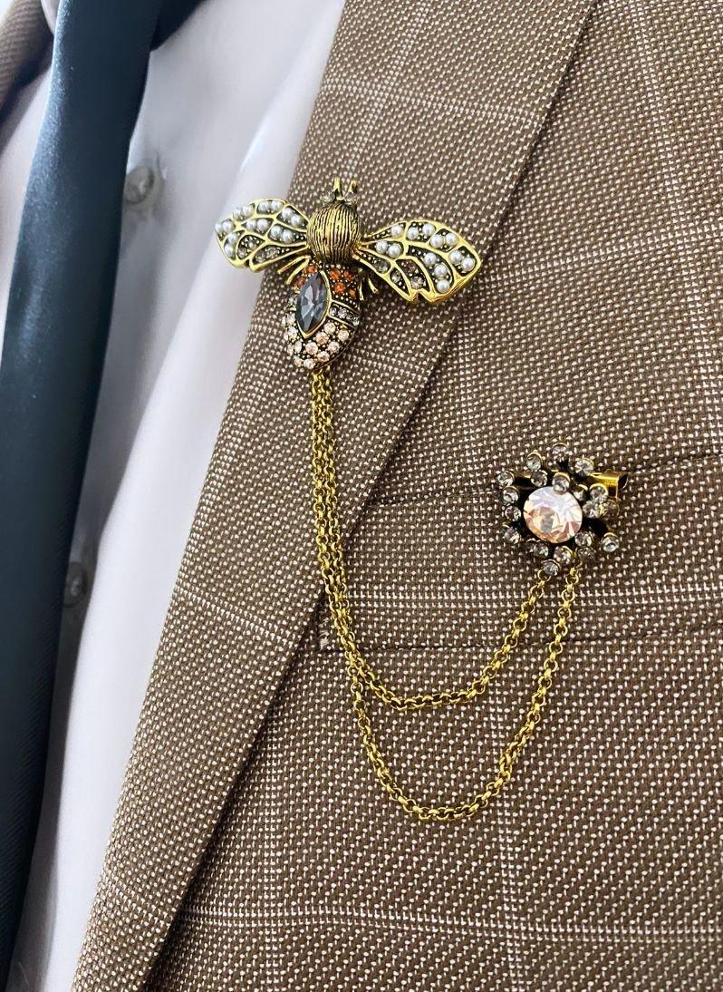 Broșă-PIN unisex cu design albină