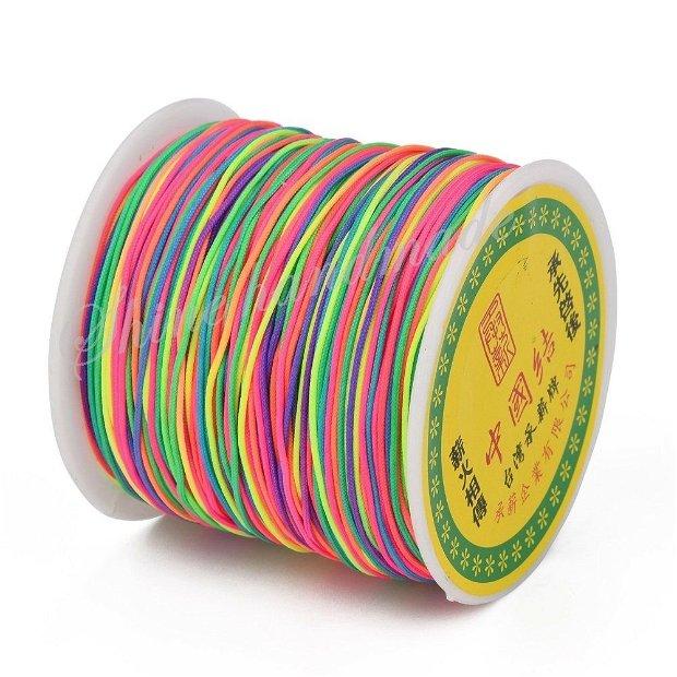 PRECOMANDA Snur multicolor, 0.8mm