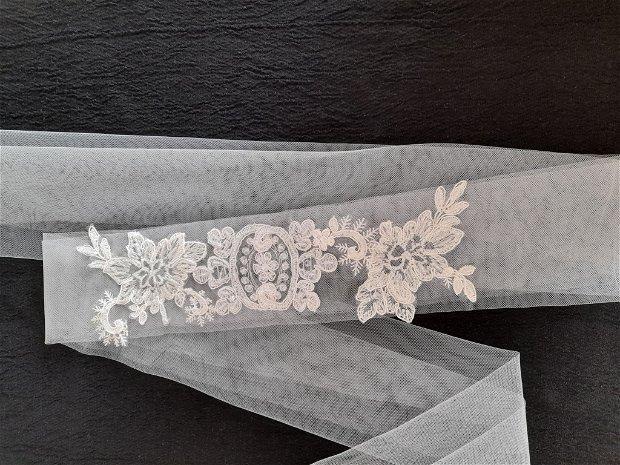 Esarfa mireasa dezgatit ivory/brau model 65