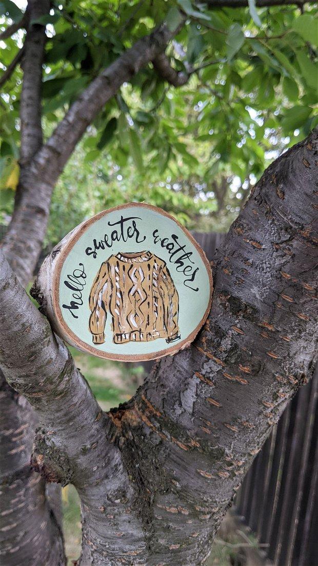 Pictura pe felie de copac FALL