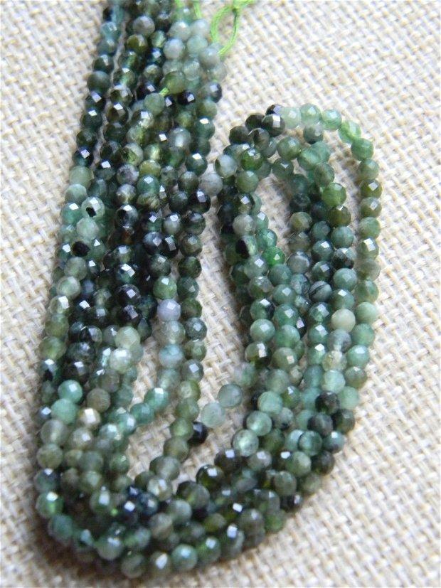 Turmalina verde fatetata 3 mm (AVGD-F5)