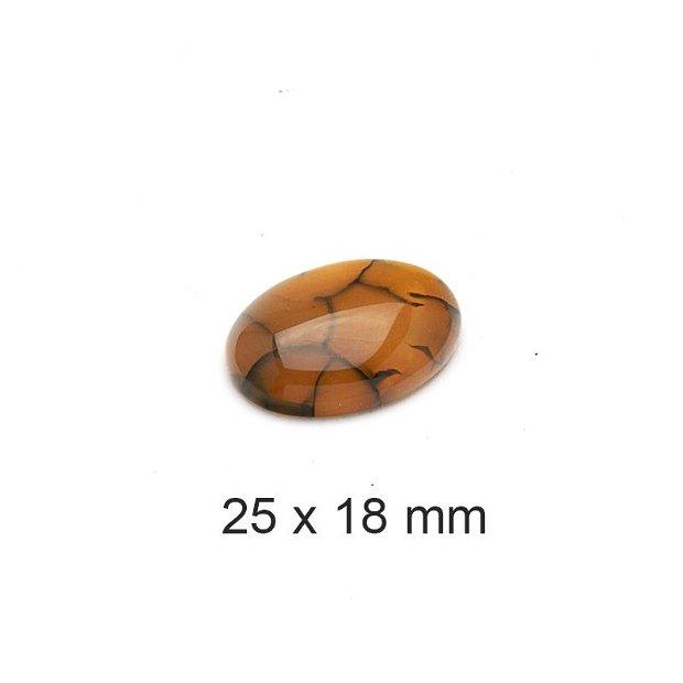 Cabochon Agat, 25 x 18 mm, A735